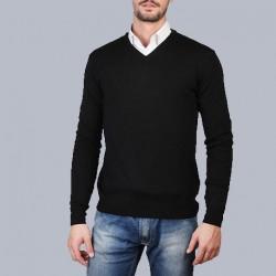 100% Pura lana Merinos Scollo V Uomo